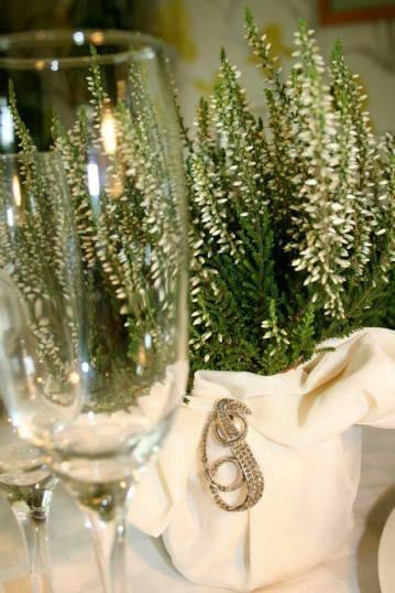 wedding flowers planted centerpiece